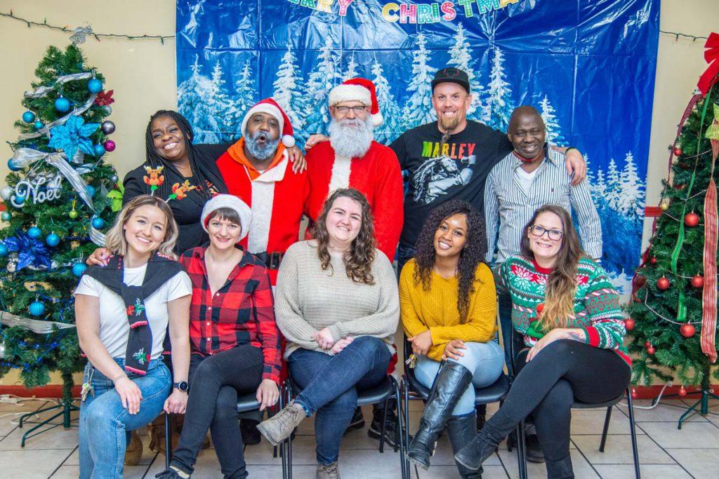 Christmas helpers at CCO at Christmas time
